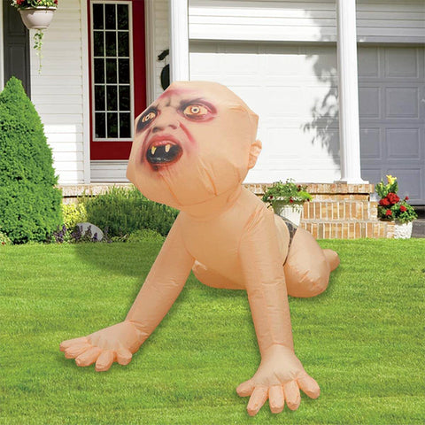 Inflatable Zombie Baby Blow Up with LED