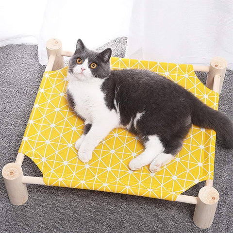 Elevated Cat Hammock Bed Mat Lounger