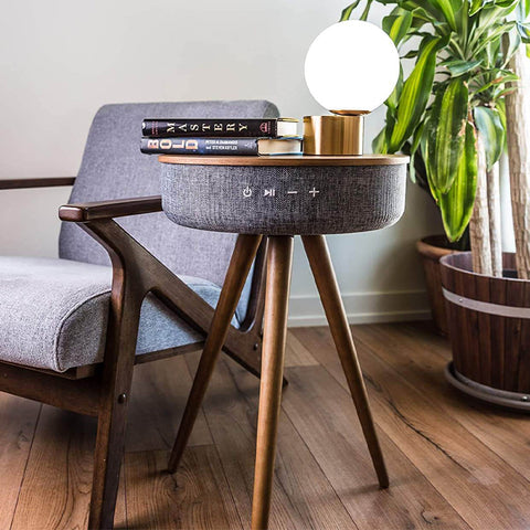 Bluetooth Speaker Table Stand with Dual USB Ports
