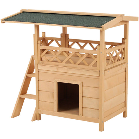 Large Wooden Pet House Shelter with Roof