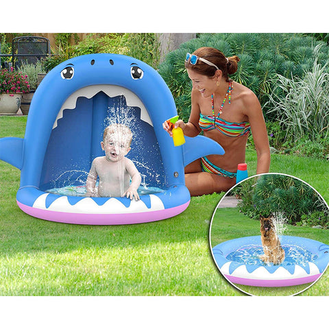 Inflatable Kiddie Pool with Canopy