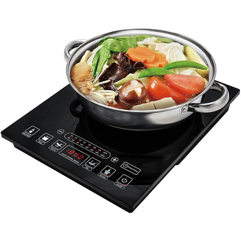 Portable Induction Cooktop with Stainless Steel Pot 1800W