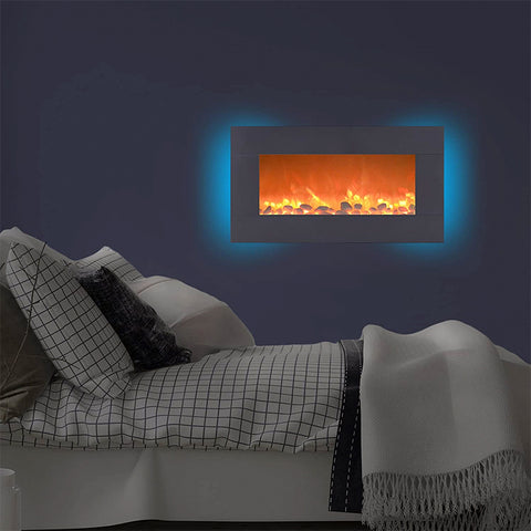Electric Fireplace Wall Mounted with 13 Colors