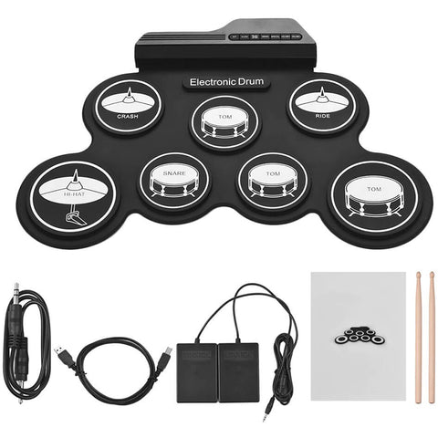 Electronic Digital Silicon 7 Drum Pads