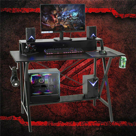 Gaming Table Computer Desk with Cup Holder