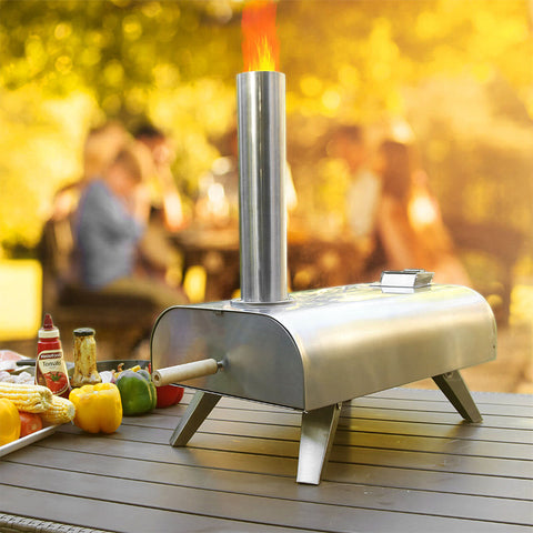 Pellet Grill Wood Portable Pizza Oven