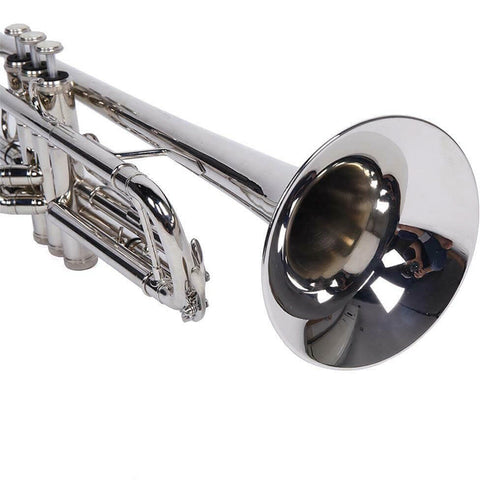 Silver Bb Trumpet for Concert Band with Case