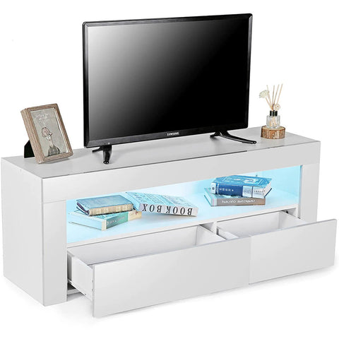 47in Modern RGB LED TV Stand with Drawer