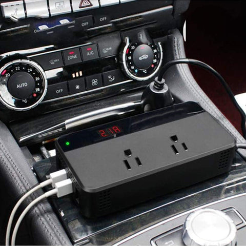 200W Car Power Inverter with Switch and Current LCD Screen
