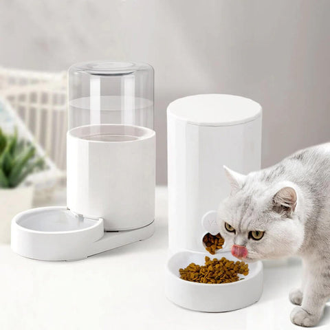 Automatic Cat Feeder Water And Food Bowl Dispenser
