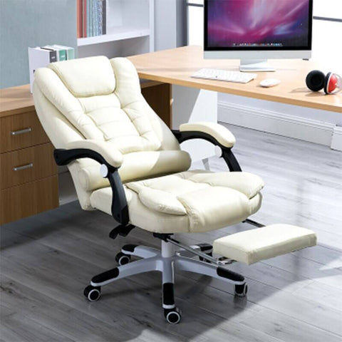 Premium Reclining Massage Chair with Comfortable Leather & Extendable Footrest