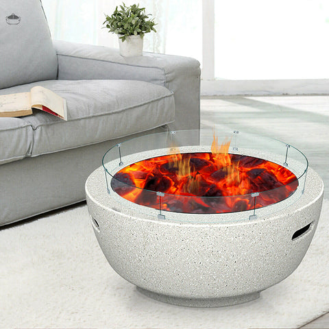 Fire Pit Wind Guard Tempered Glass
