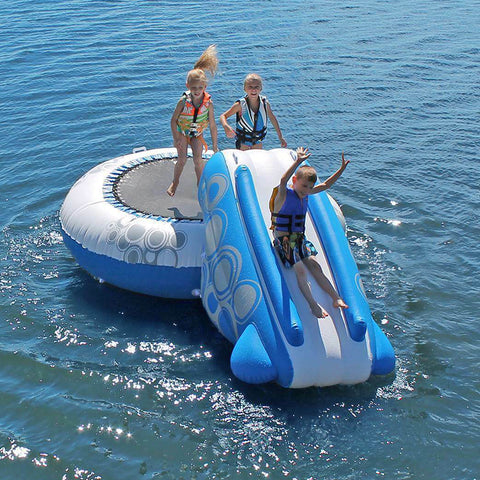 Inflatable Water Bouncer Trampoline with Slide