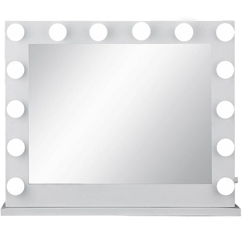 White Hollywood Makeup Vanity Mirror with Light