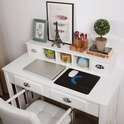 Study Desk Workstation Table with 4 Drawers