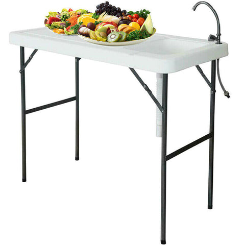 Portable Fish Cutting Table Sink Faucet