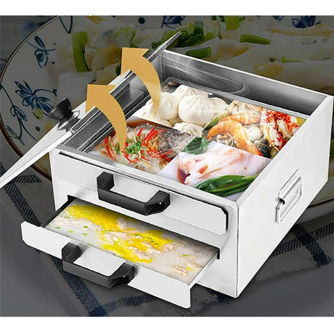 2 Layer Rice Noodle Roll Steamer