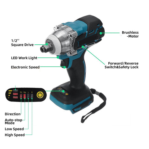 Electric Cordless Impact Wrench 18V
