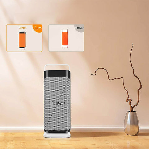 Portable Electric Tower Heater Fan with Thermostat