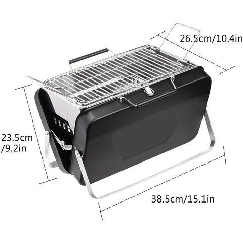 Premium Portable Grill Tabletop Charcoal Outdoor BBQ Camper Grill