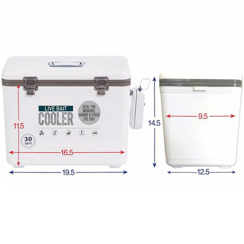 Insulated Live Bait Fishing Dry Box Cooler