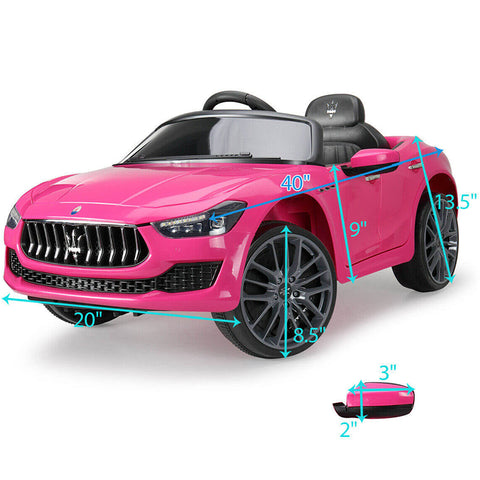 12V Rechargeable Kids Ride On Car Maserati