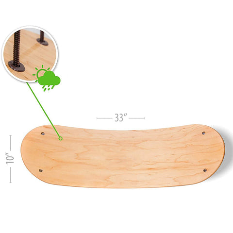 Stand Up Surfing Swing Curved Wood Board