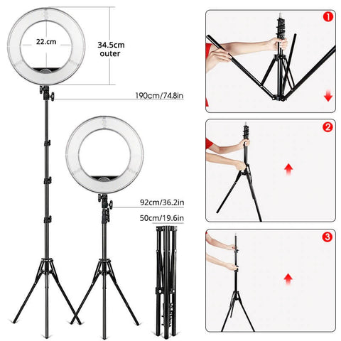 Premium Ring Light With Tripod 14