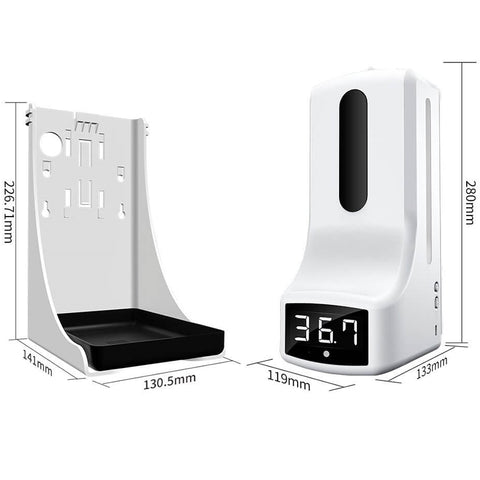 Wall Mounted Thermometer with Soap Dispenser