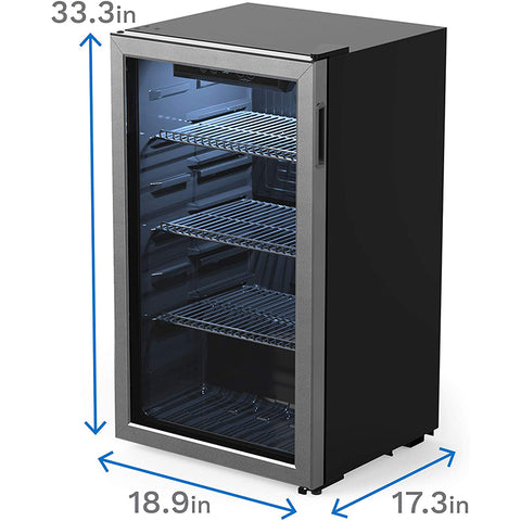 Large 120 Can Beverage Refrigerator and Cooler