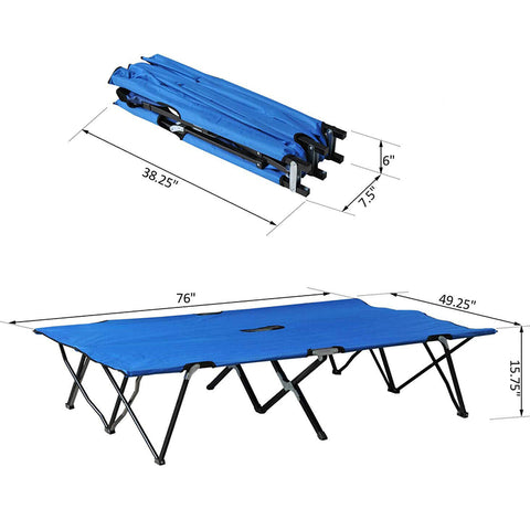 Outdoor Military Folding Camping Cot Bed