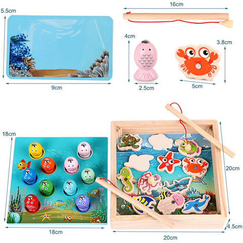 Kids Educational Wooden Toys Magnetic Game