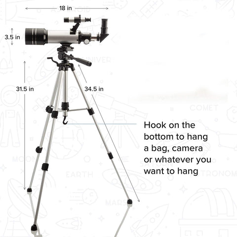 Astronomy Telescope for Kids & Adults with Finder Scope & Tripod
