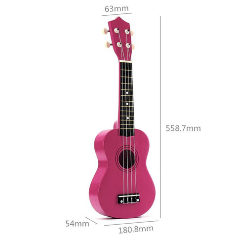 "21"" Soprano Ukulele Basswood Acoustic Nylon 4 Strings"