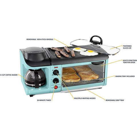 Retro 3in1 Family Size Electric Breakfast Station
