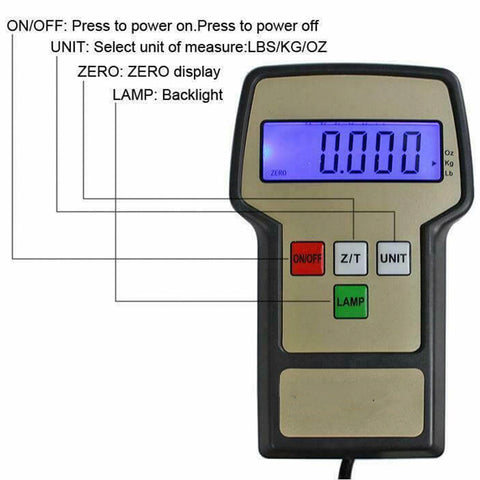Electronic Refrigerant Charging Weight Scale