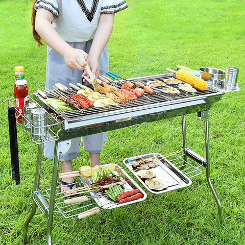 Outdoor Stainless Steel Charcoal Grill Barbecue