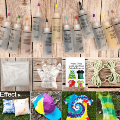 All In One Permanent Tie Dye Supplies Kit