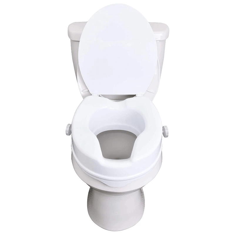 Clamp On Raised Handicap Toilet Seat Riser 4""