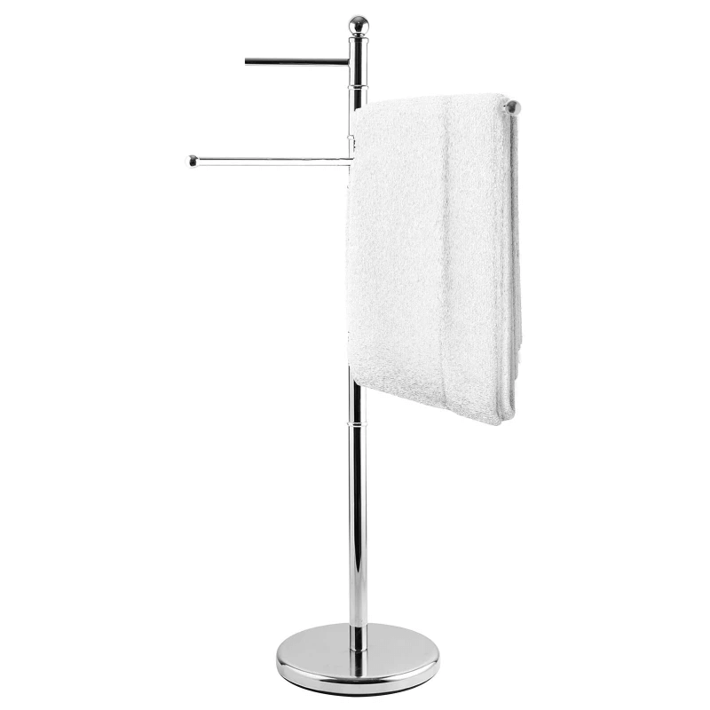 Free Standing Bathroom Towel Drying Rack Stainless Steel