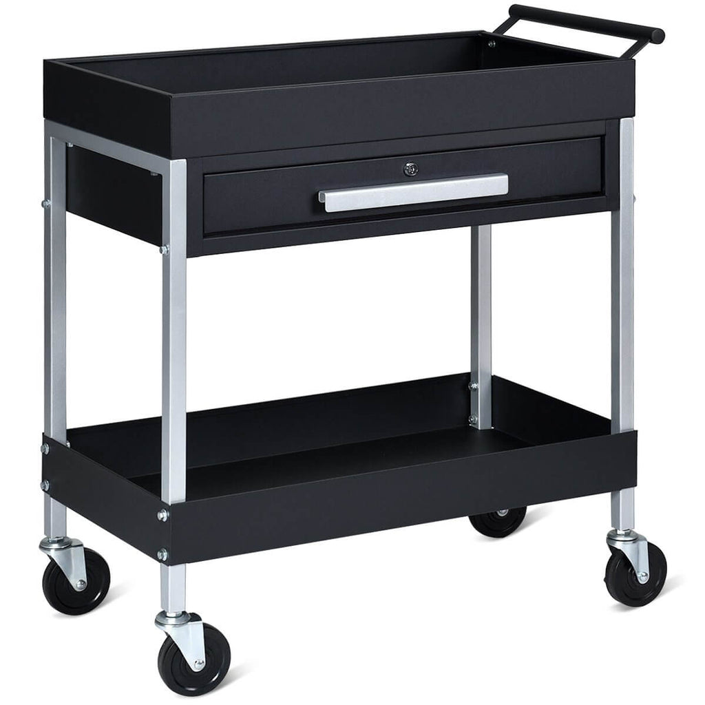 Heavy Duty Rolling Mobile Utility Tool Box Cart