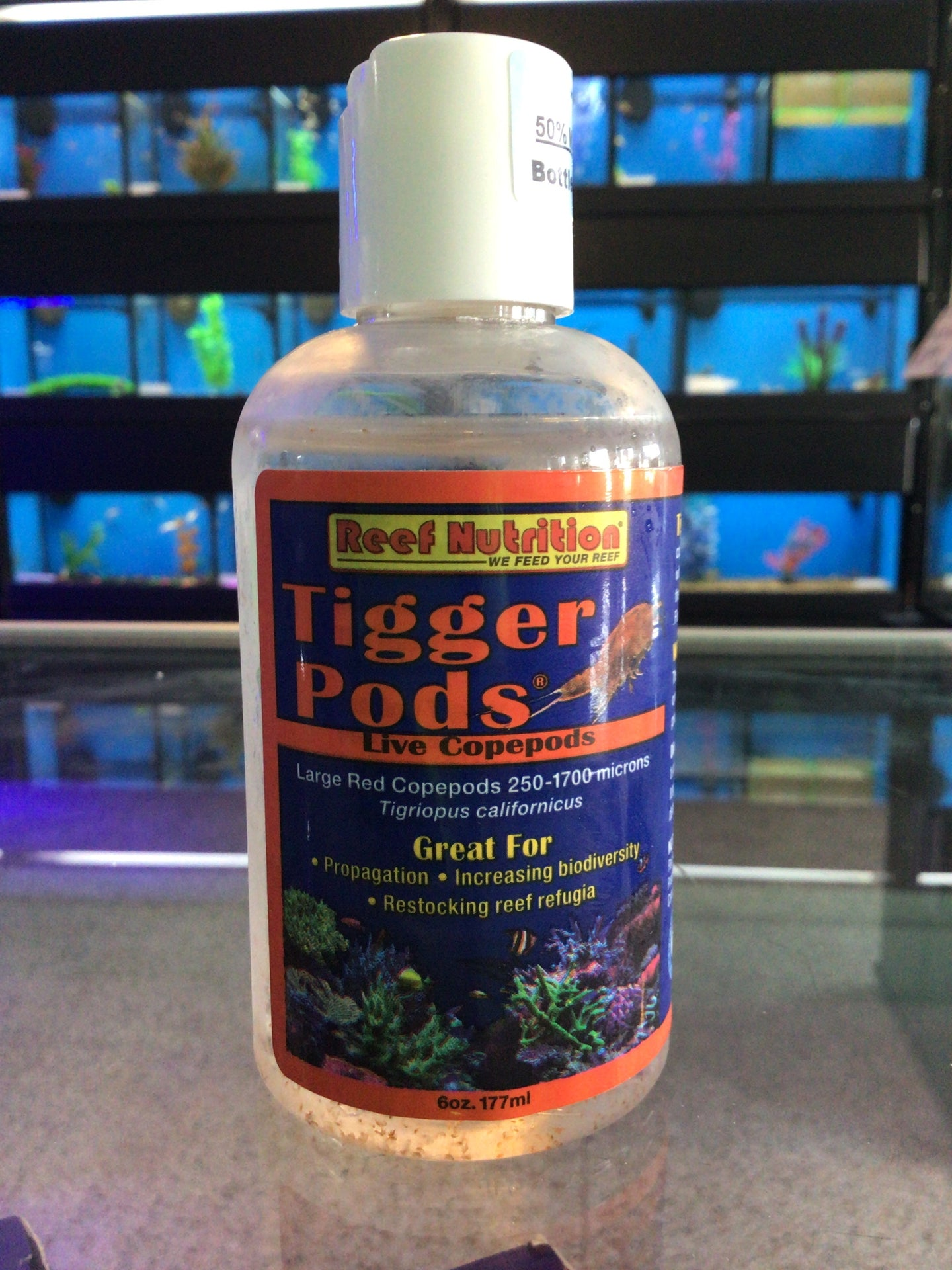 Reef nutrition Tigger Pods- Live Copepods 6 oz