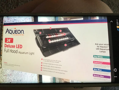 "LED Hood DLX Black 24"" aqueon"
