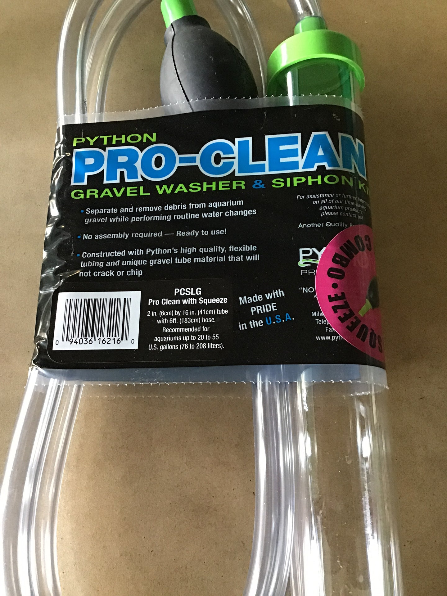 Pro clean with squeeze Lrg