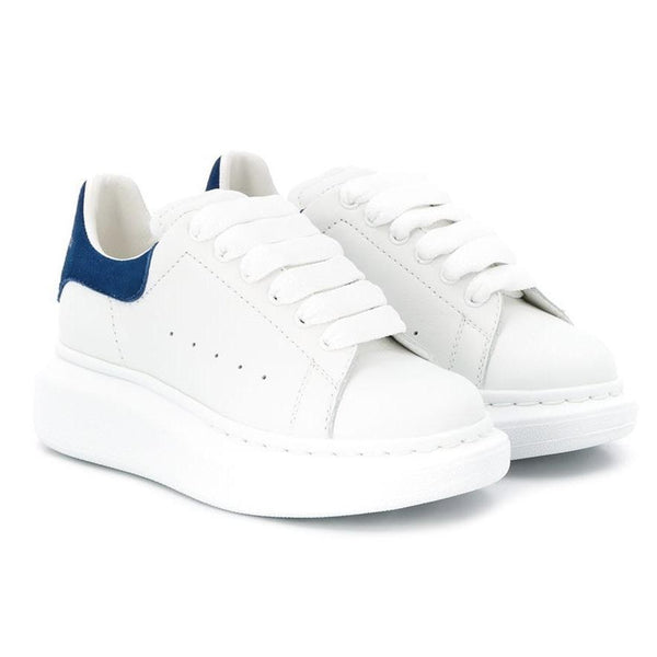 Alexander McQueen Oversized Sole Trainers (White/Blue)