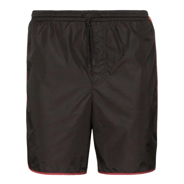 Gucci Nylon Stripe Logo Swimming Shorts (Black)
