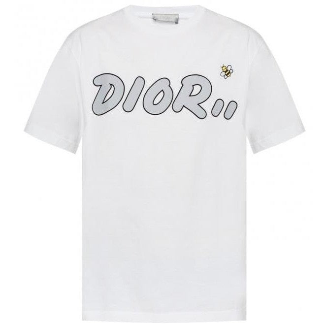 Dior X Kaws Embroidered Bee Print T-shirt (White)