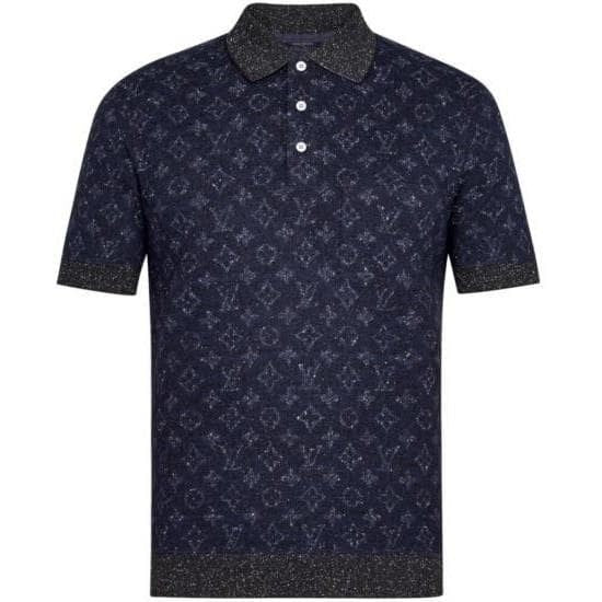 Louis Vuitton All Over Tweed Monogram Polo Navy (Pre-Owned)