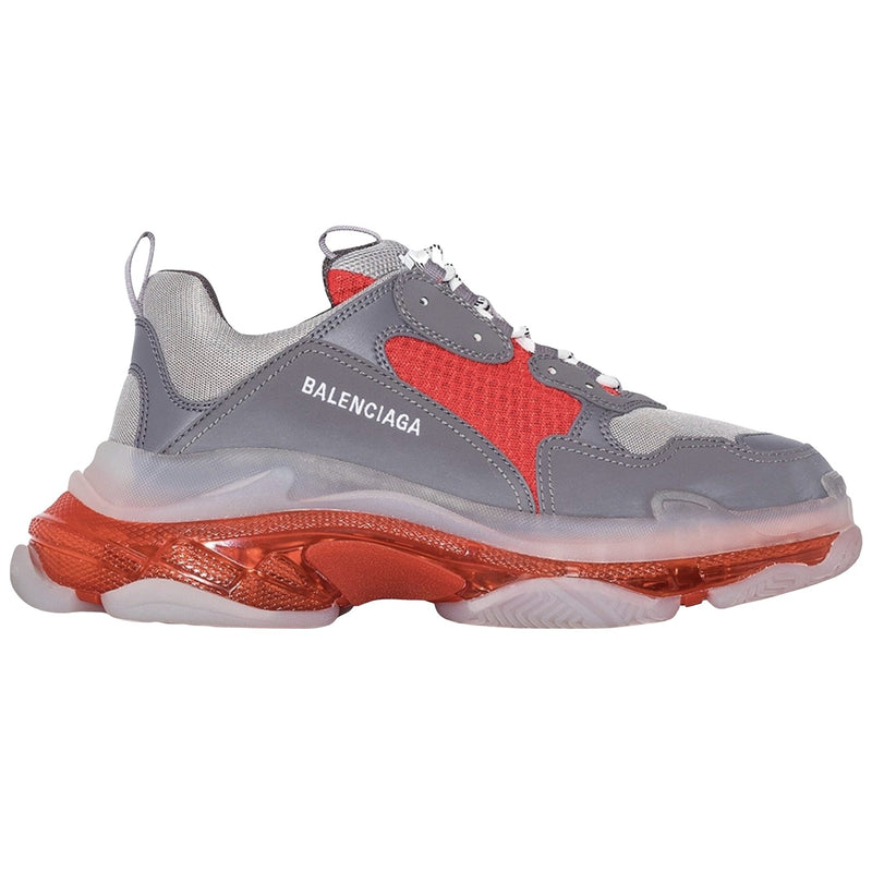 Balenciaga Triple S Trainers (Grey/Red)
