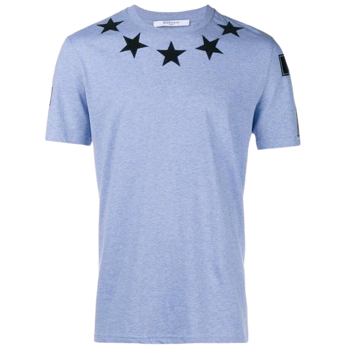 Givenchy Cuban Fit Stars T-shirt (Blue/Black)